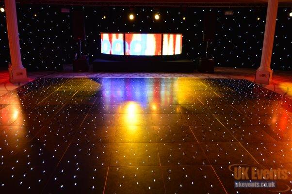 led black starlight dance floor