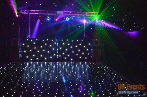 black sparkly wedding dance floor
