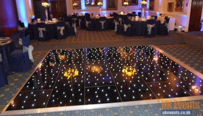 gloss black twinkling dance floor