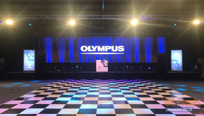 a black and white dance floor for a conference event in London