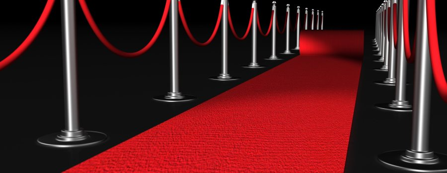 A VIP red carpet for the television awards in London