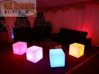 led cubes for hire