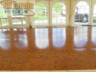 Oak Parquet Dance Floor Hire