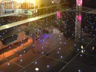 black LED starlit dance floor