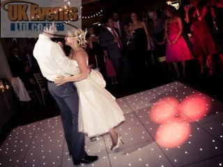 wedding starlit dance floor