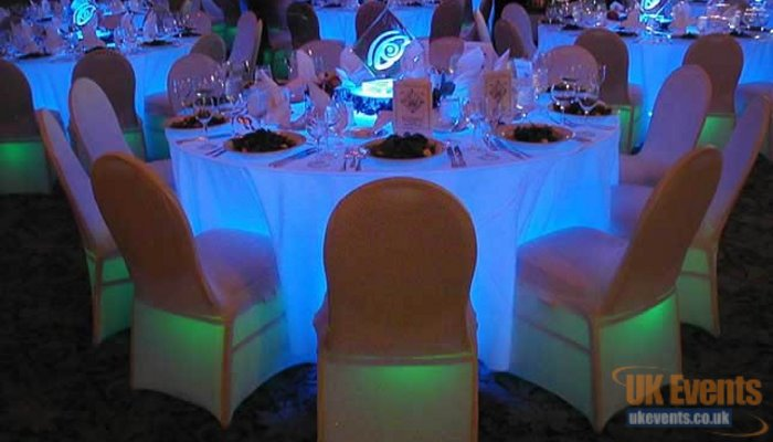 light up banquet tables for hotel function room