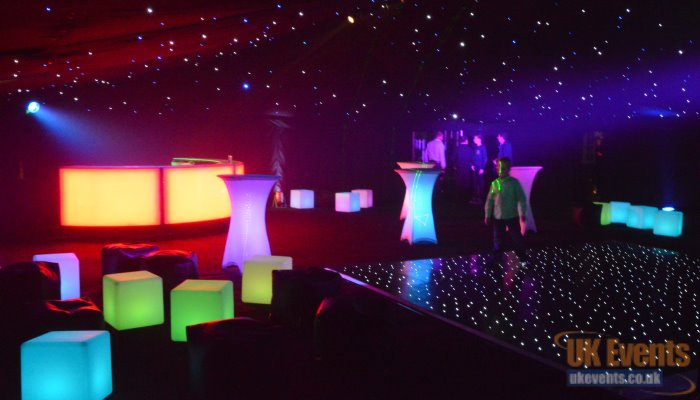 light up led furniture for event hire and private parties