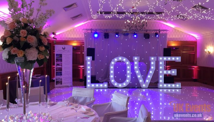 Giant love letter hire