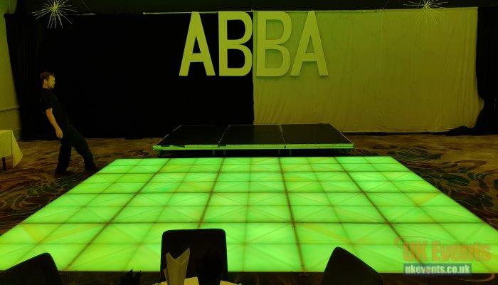 Green light up LED dance floor