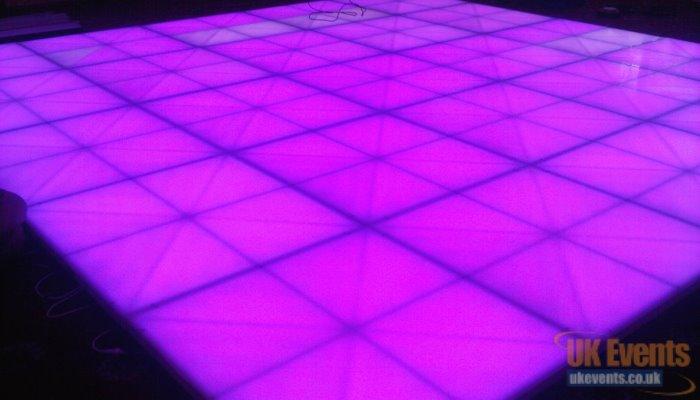 Pink light up dance floor