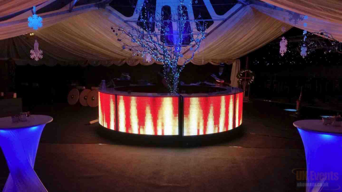LED Furniture and poseur table hire