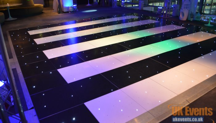 mix and match your dance floors by using 2 different floors in one.