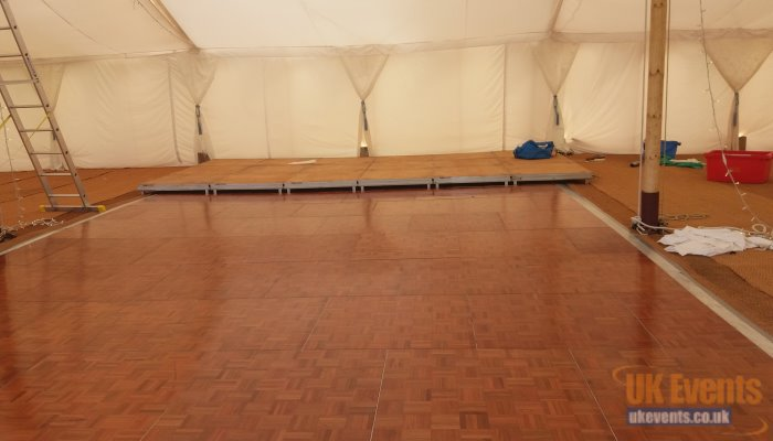 marquee dance flooring hire for a party