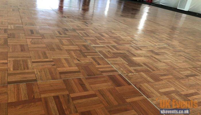High shine wooden dance floor