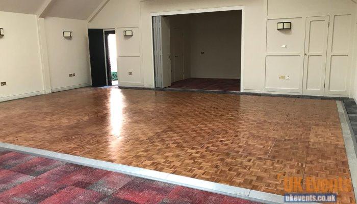 Sports hall wooden dance floor rental