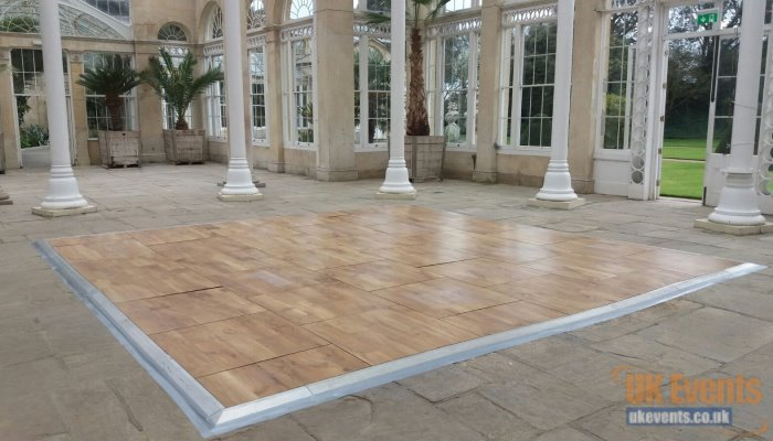 weathr-proof dance floor for outside party and events including marquee
