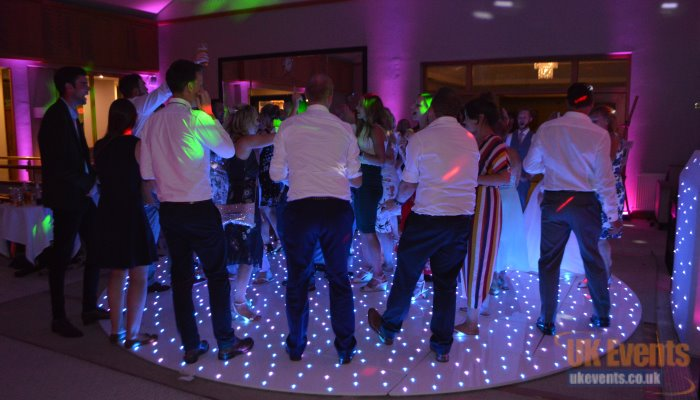 The world's first light up round dance floor with rgb LED's