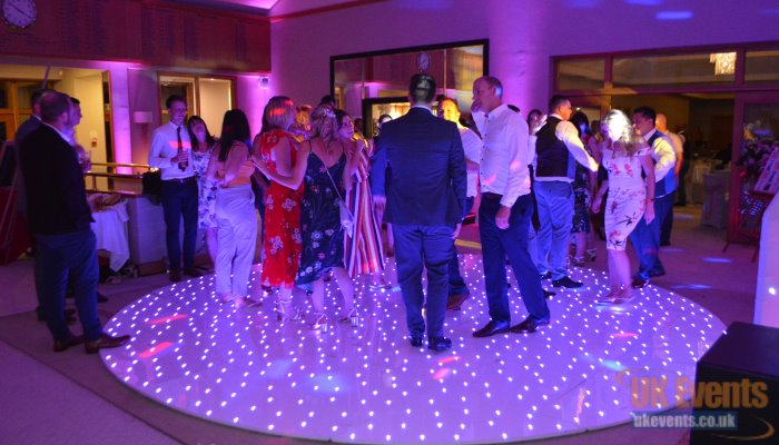 sparkly round dance floor with LED lights