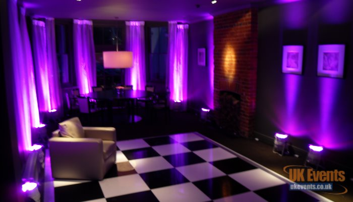 Wireless LED room uplights to add some colour to your function room walls