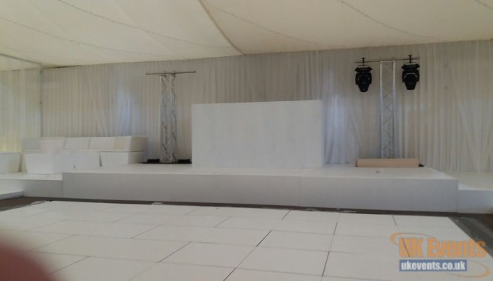stage hire for private event