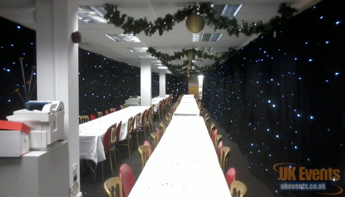 A star cloth for a wedding reception