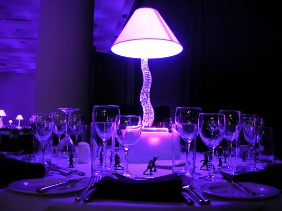 LED Cobra Shade Table Centre