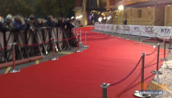 television awards vip red carpet runner outside the Royal Albert Hall in London