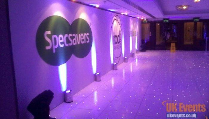 White starlit sparkling dance floor