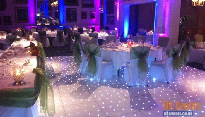 gloss white twinkling dance floor