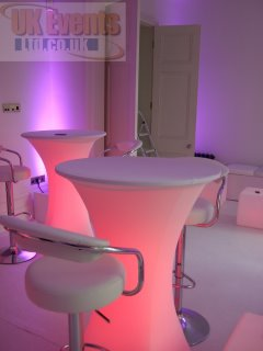 Light Up LED Cubes and seating