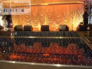 Black led dance floor Bedfordshire