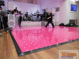 pink led dance floor