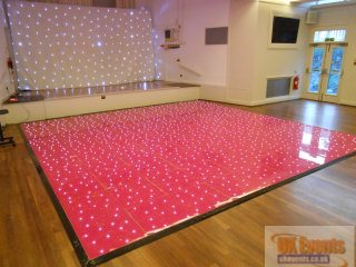 Pink Sparkly dance floor for a birthday party