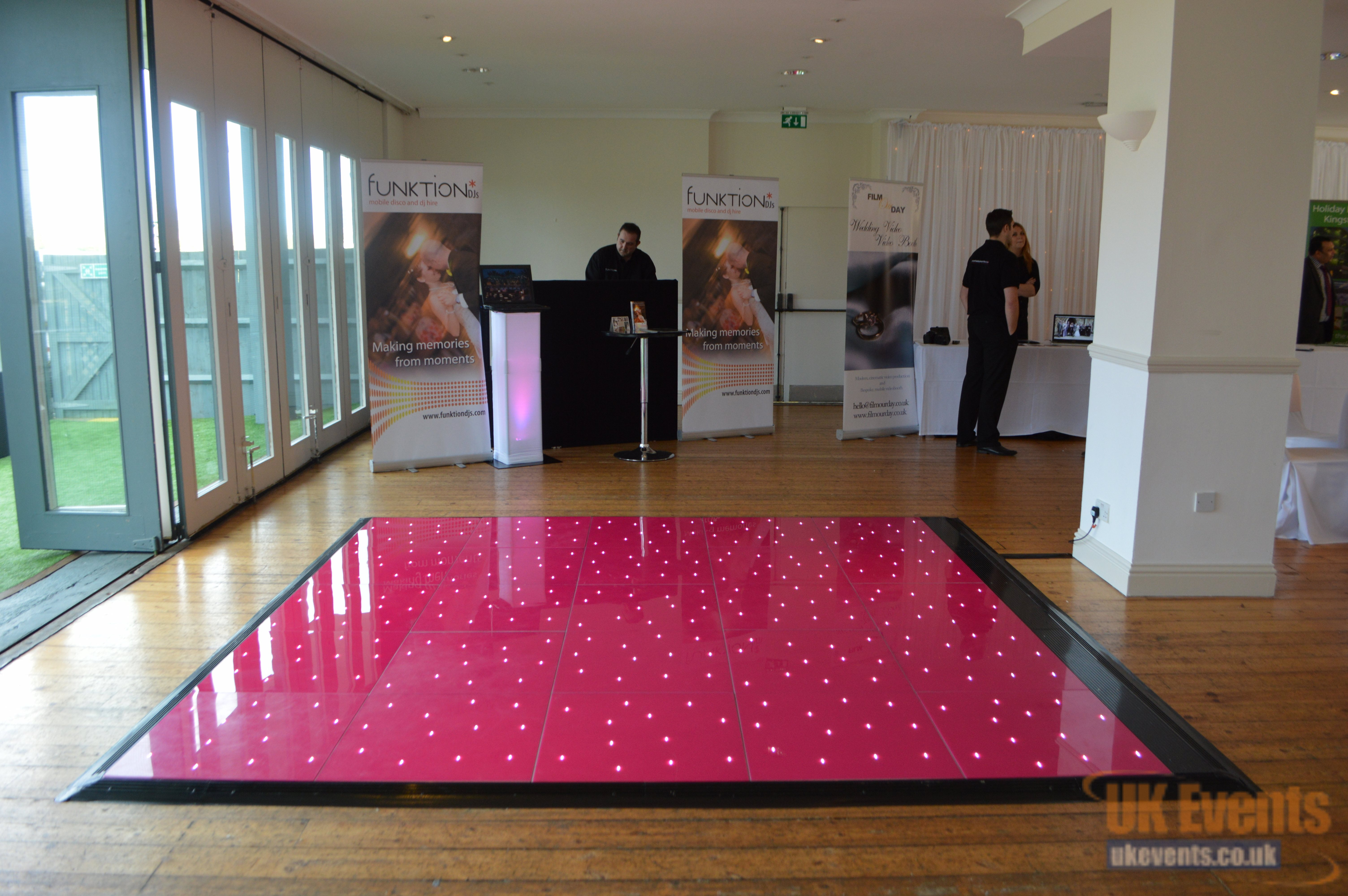 hot pink dance floor for a party