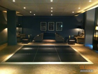 marquee flooring with black acrylic surface