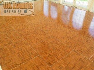 Traditional oak parquet wooden dance floor