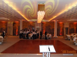a wooden dance floor for the grove hotel