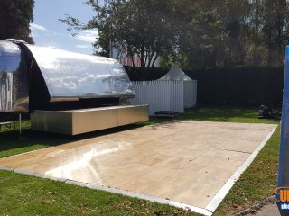 Portable Dance Floor for a garden birthday party