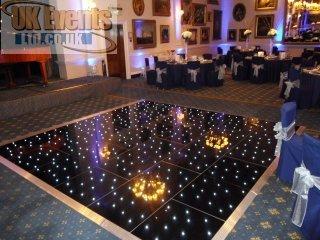 Black disco dance floor