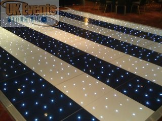 striped white and black led dance floor