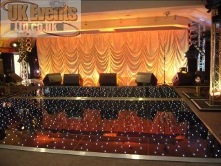 a stunning black led dance floor for a corporate function