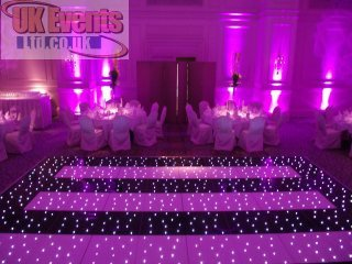 pink and black twinkling dance floor