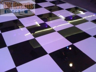 black and white chequered dance floors for hire