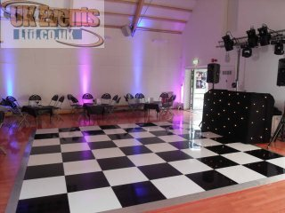 a black and white dance floor for birthday party