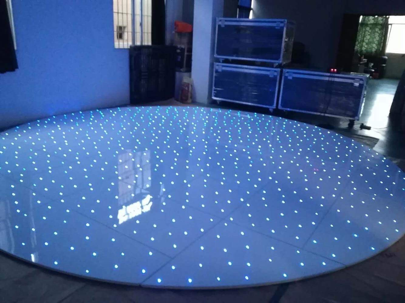 RGB Circular Dance floor for hire