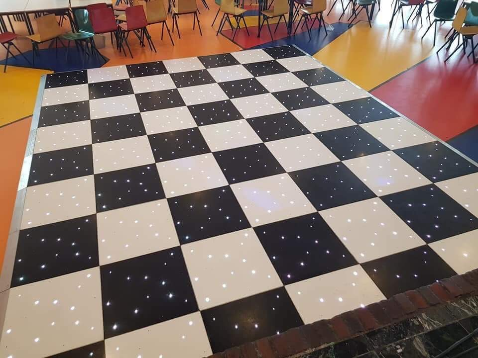 Black and White RGB LED Dance Floor