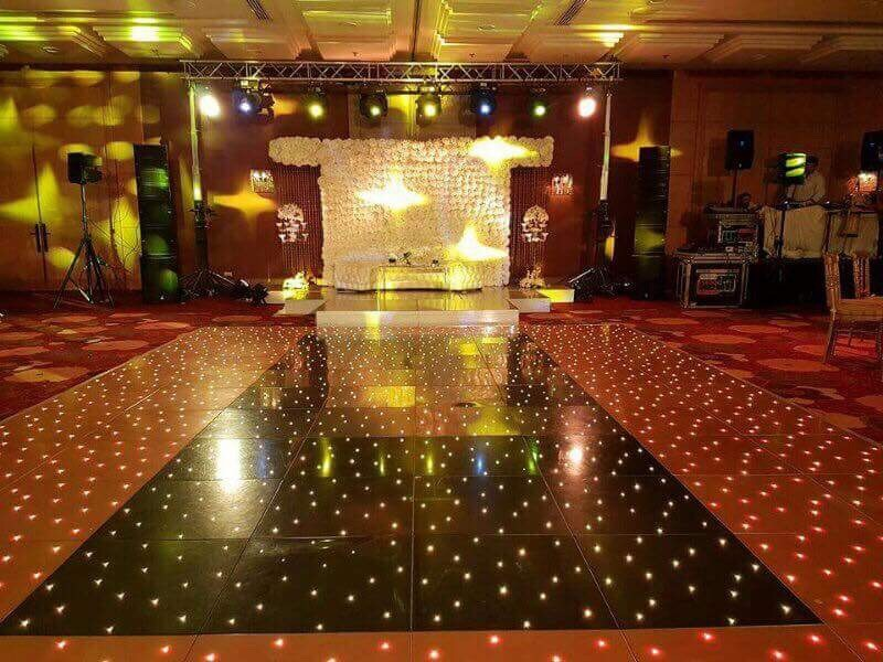 Black and Gold Dance Floor