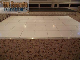 white flooring rentals