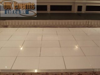 a pure white dance floor for birthday and wedding parties