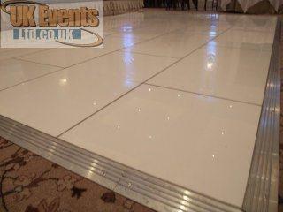 Pure white acrylic dance floor